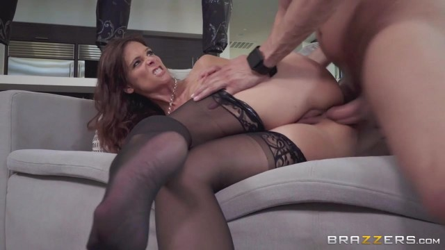 Skinny MILF with big boobs goes anal with young man Video thumb #15