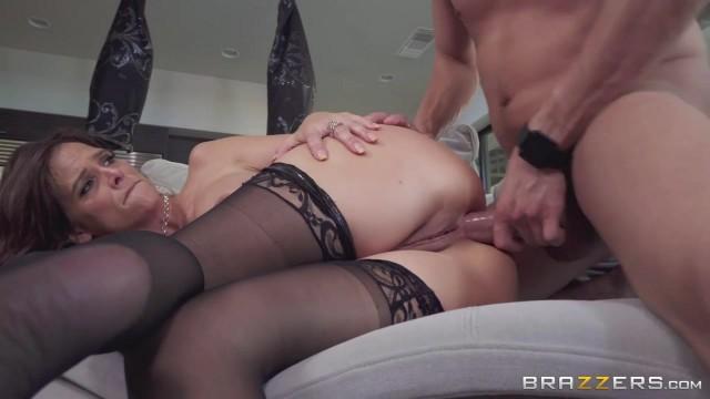 Skinny MILF with big boobs goes anal with young man Video thumb #17