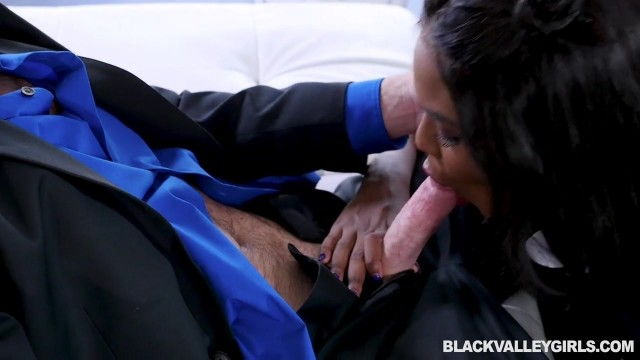 Ebony school girl sucks teacher Video thumb #7