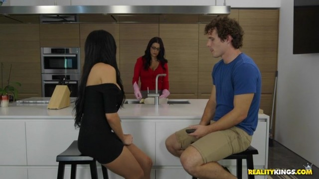 Jaclyn Taylor seduces Lacie James's son in the kitchen Video thumb #0