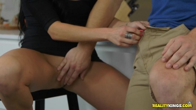 Jaclyn Taylor seduces Lacie James's son in the kitchen Video thumb #11