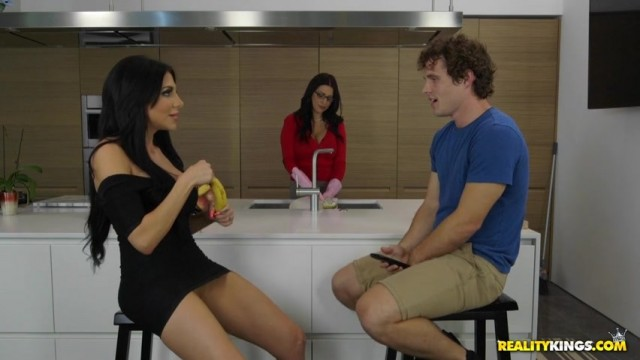 Jaclyn Taylor seduces Lacie James's son in the kitchen Video thumb #1