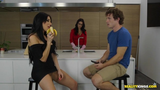Jaclyn Taylor seduces Lacie James's son in the kitchen Video thumb #2