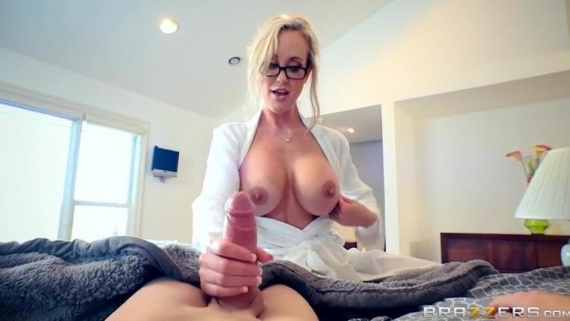 Brandi Love caught masturbating stepson by dad