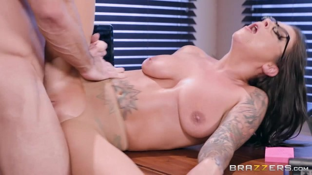 Inked MILF in nylon sucks and fucks Video thumb #2