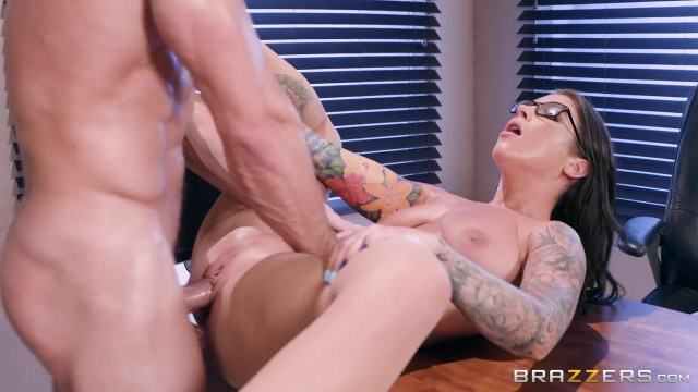 Inked MILF in nylon sucks and fucks Video thumb #7