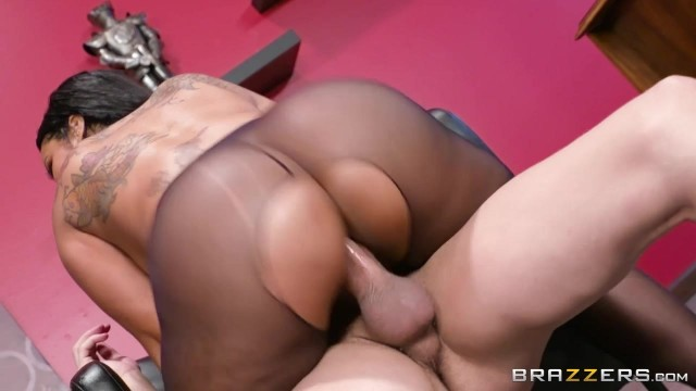 Ebony MILF with big tits nailed on table Video thumb #15