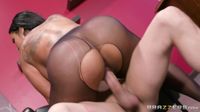 Ebony MILF with big tits nailed on table Video thumb #16