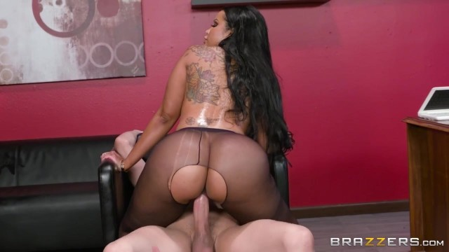 Ebony MILF with big tits nailed on table Video thumb #18