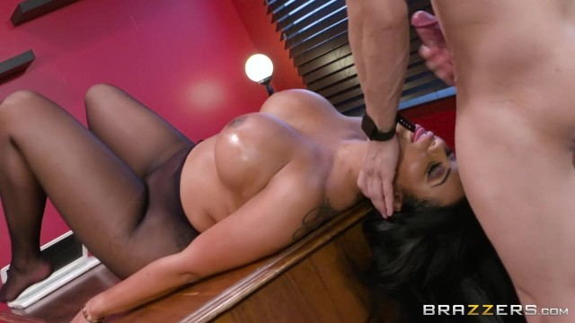 Ebony MILF with big tits nailed on table Video thumb #19