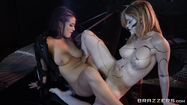Horny lesbians play with double ended dildo in the dungeon Video thumb #9