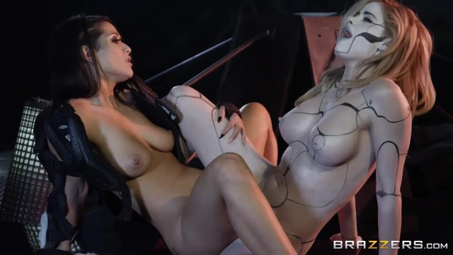 Horny lesbians play with double ended dildo in the dungeon Video thumb #11