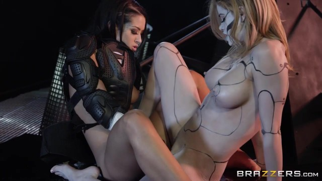 Horny lesbians play with double ended dildo in the dungeon Video thumb #12