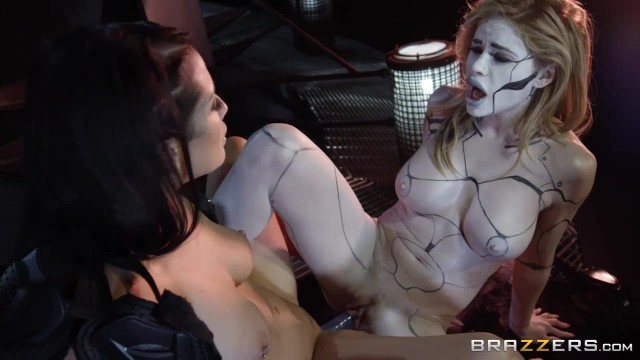 Horny lesbians play with double ended dildo in the dungeon Video thumb #8