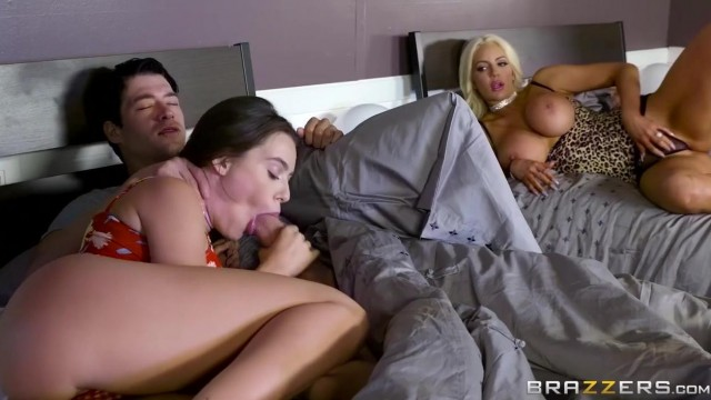 Lana Rhoades and Nicolette Shea do ffm threesome Video thumb #0