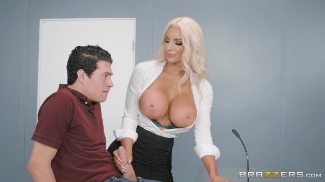 Nicolette Shea Porn - MILF gives hot blowjob and rides huge dick