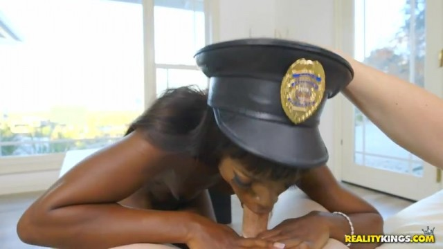Ebony police officer twerk and give head Video thumb #12