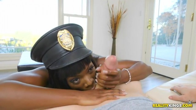 Ebony police officer twerk and give head Video thumb #16