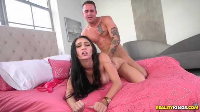 Flexible brunette with big tits splits on dick Video thumb #11
