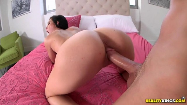 Flexible brunette with big tits splits on dick Video thumb #12