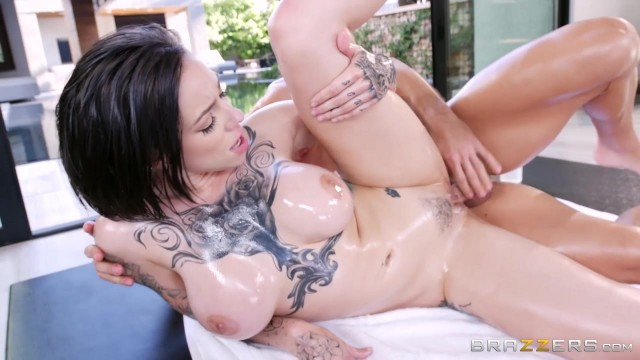 Oiled Brunette Harlow Harrison anal fucked Video thumb #6