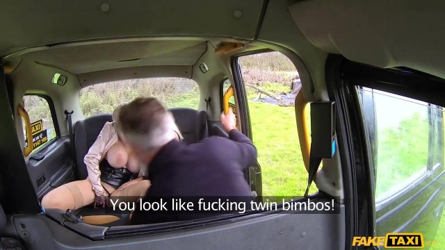 Fake Taxi - Threesome with two blonde bimbos Video thumb #7