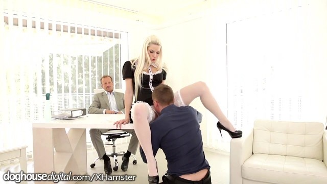 Horny Czech gets Double Penetration at Work Video thumb #3