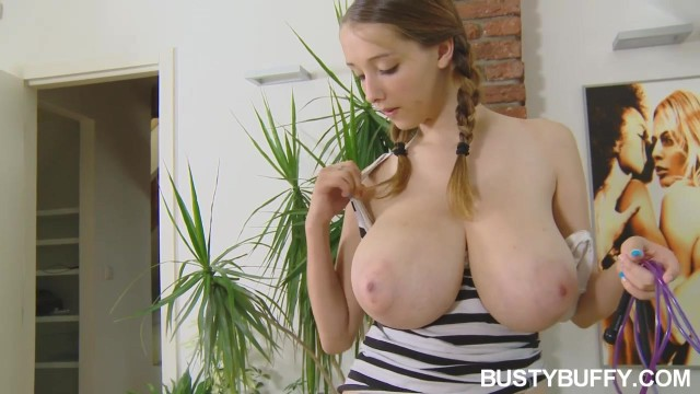 Busty Buffy Shows Off Her Huge Naked Natural Tits Video thumb #16