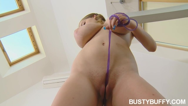 Busty Buffy Shows Off Her Huge Naked Natural Tits Video thumb #19