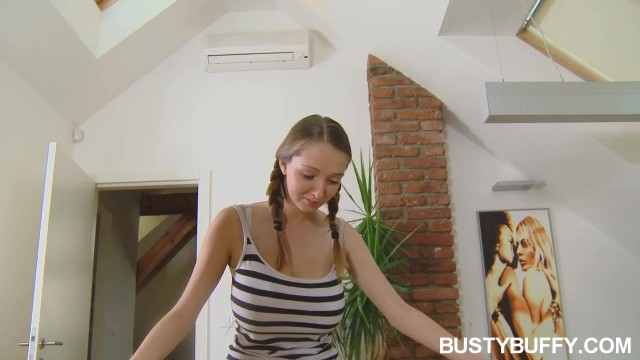 Busty Buffy Shows Off Her Huge Naked Natural Tits Video thumb #4