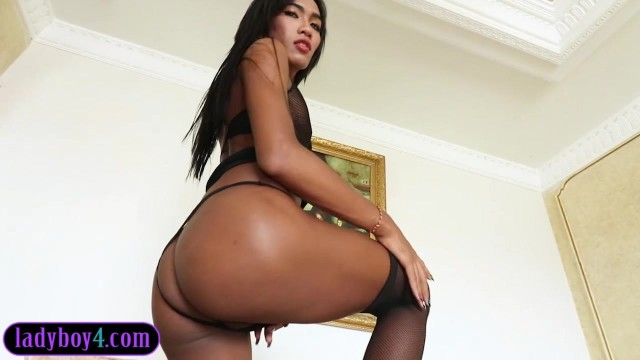 Well hung ladyboy blowjob and barebacked Video thumb #1