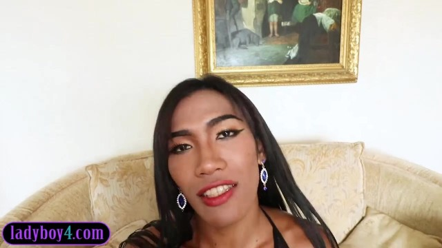Well hung ladyboy blowjob and barebacked Video thumb #4