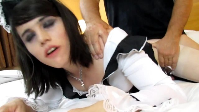 Nyxi Leon - Male Fucks Shemale Maid In The Ass Doggy Style Video thumb #14