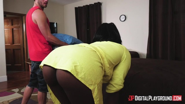 Ebony Stepmom Osa Lovely seduces stepson Video thumb #0