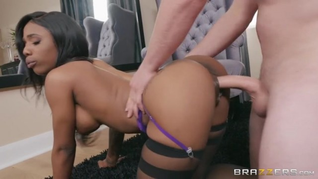 Sarah Banks in black stockings fucked doggy style Video thumb #7
