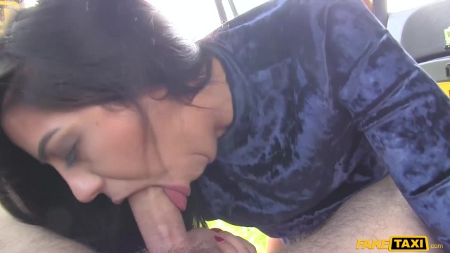 MILF Julia De Lucia Eats old man ass in the fake taxi Video thumb #0
