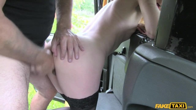 Blonde passenger tries to swallow huge cock in the Fake Taxi Video thumb #9