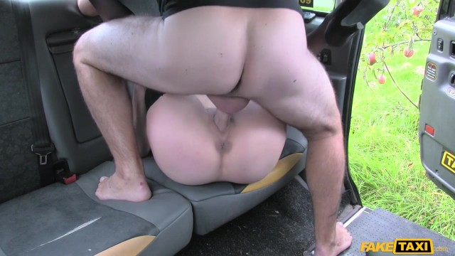 Blonde passenger tries to swallow huge cock in the Fake Taxi Video thumb #11