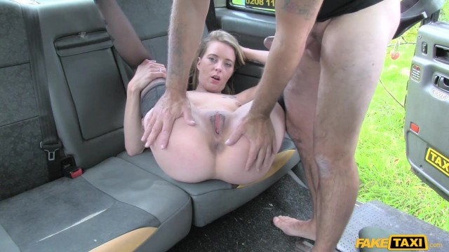 Blonde passenger tries to swallow huge cock in the Fake Taxi Video thumb #13