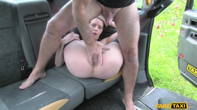 Blonde passenger tries to swallow huge cock in the Fake Taxi Video thumb #14