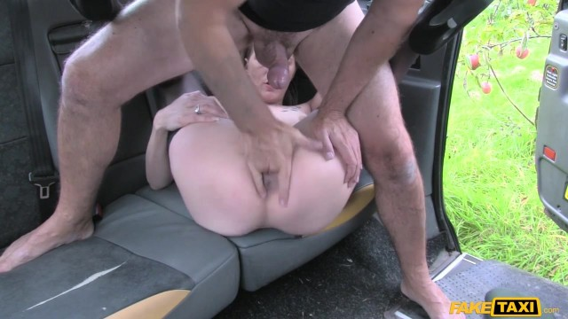 Blonde passenger tries to swallow huge cock in the Fake Taxi Video thumb #17
