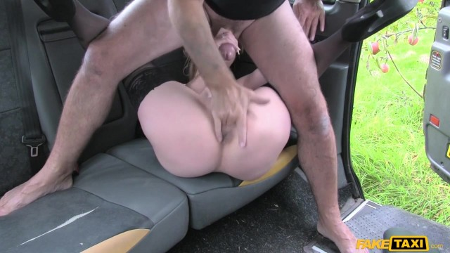 Blonde passenger tries to swallow huge cock in the Fake Taxi Video thumb #18