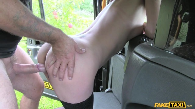 Blonde passenger tries to swallow huge cock in the Fake Taxi Video thumb #7