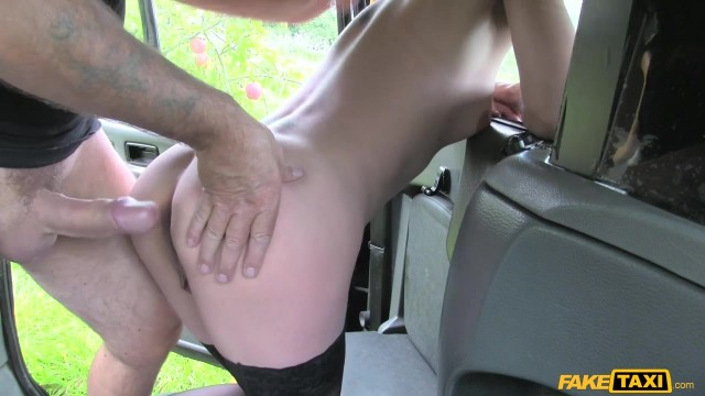 Blonde passenger tries to swallow huge cock in the Fake Taxi Video thumb #8