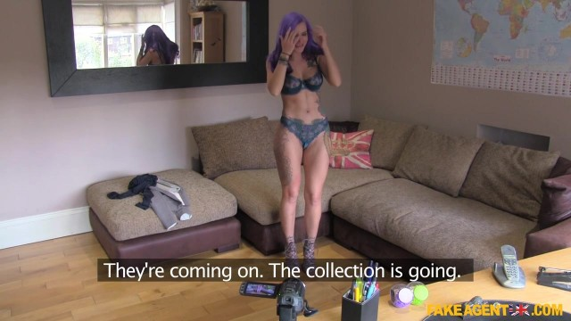 Purple head pornstar wanabie gets a butt plug up her arse during fake casting Video thumb #4