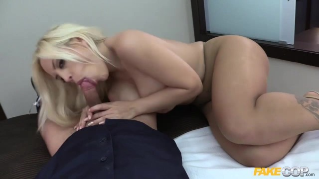 Fake Cop gets busty blonde to suck his cock Video thumb #18