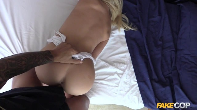 Amber Deen tricked to fuck by fake police officer