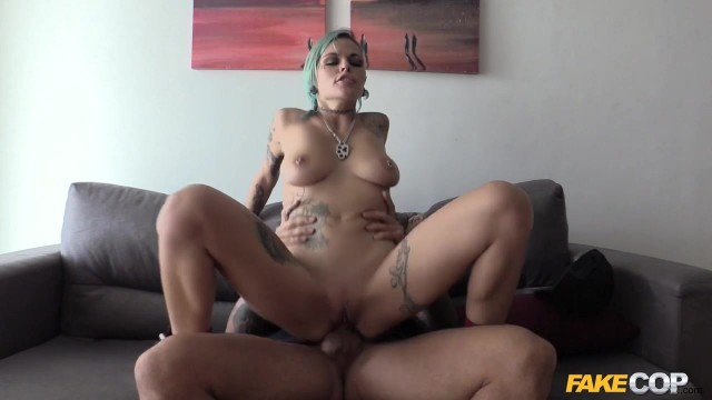 Tattooed skank fucked deep by Fake Cop Video thumb #15
