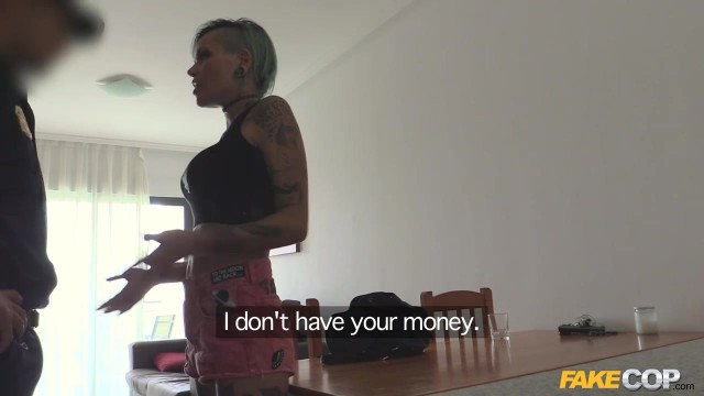 Tattooed skank fucked deep by Fake Cop Video thumb #1