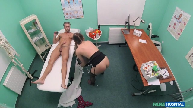 Pigtailed Cleaner gives head to doctor before getting smashed Video thumb #17